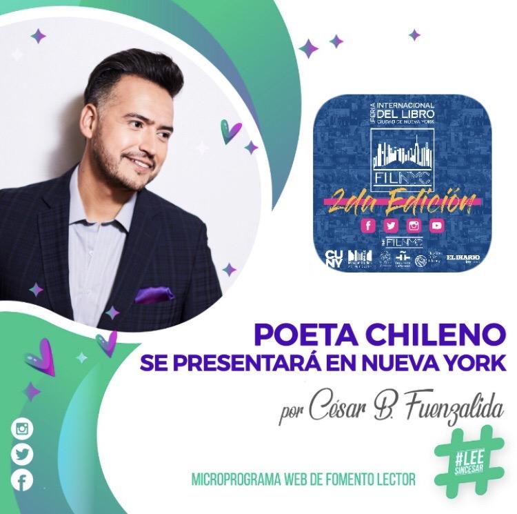 Poeta chileno se presentará en Nueva York
